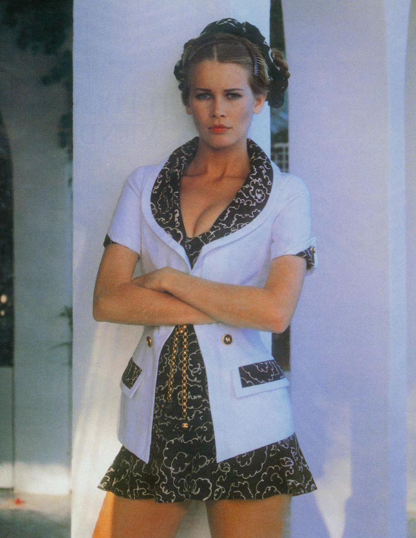 Claudia Schiffer by Karl Lagerfeld for Chanel Spring 1993