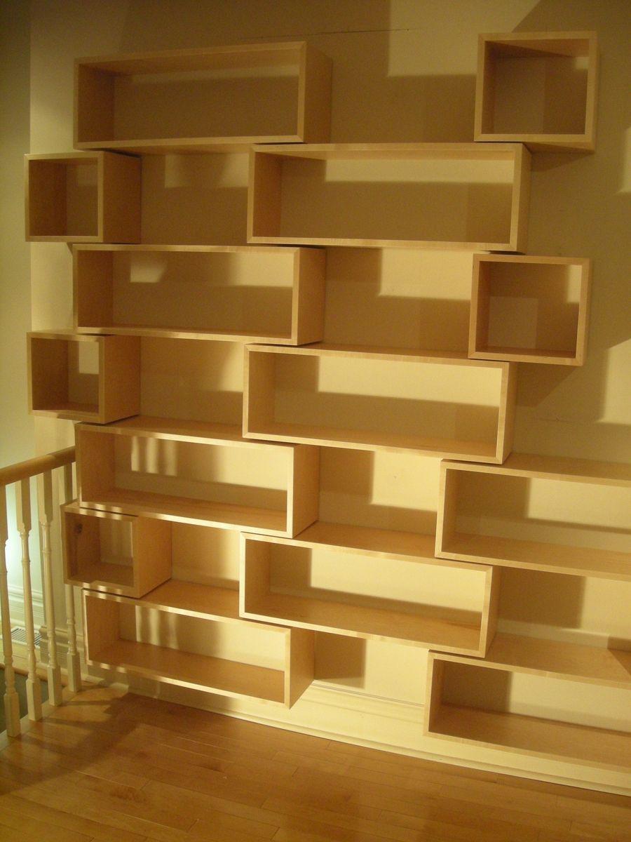 Custom Made Modern Wall Hung Library | Bookshelves | Pinterest ...