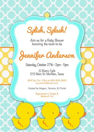 Baby Shower Invitation   Rubber Ducky Cutie For Boy   DIY Printable.  $12.50, Via