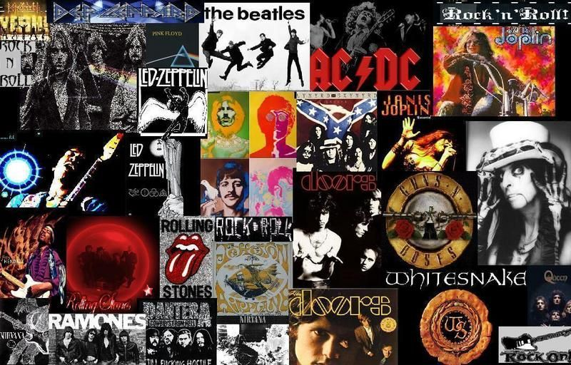 rock n roll collage picture and wallpaper Rock music