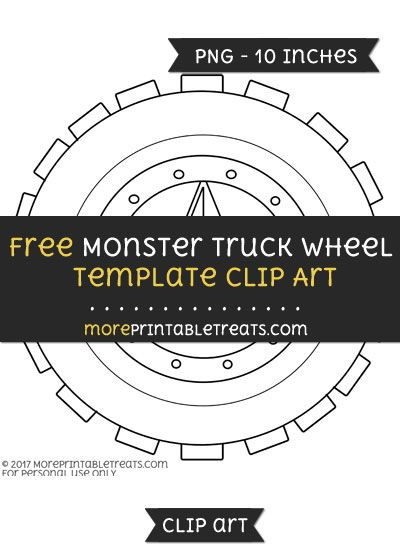 Free Monster Truck Wheel Template - Clipart Free Clipart Files - monster template