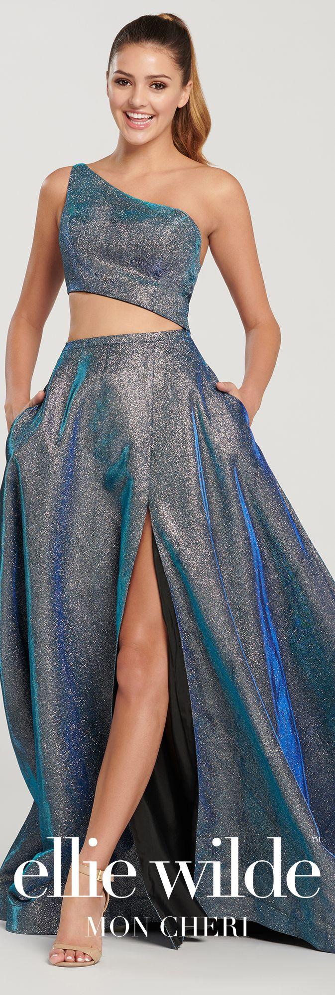 a02c9edf324a One-Shoulder Stretch Glitter A-Line Prom Dress- EW119062 in 2019 ...