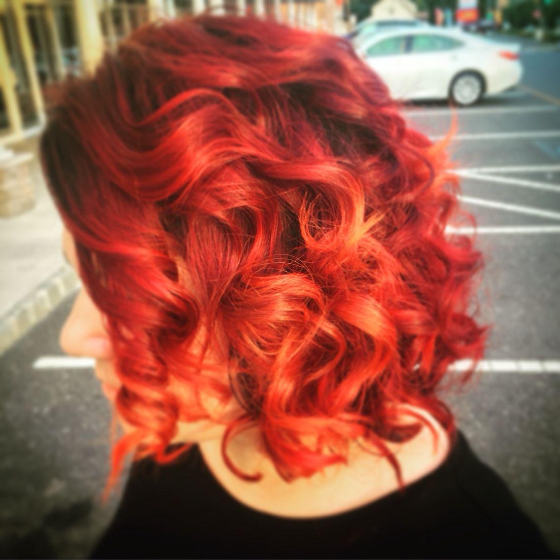 Flame Red Haircolor Pravana Vivids Hair By Jenn Nadias Salon 732