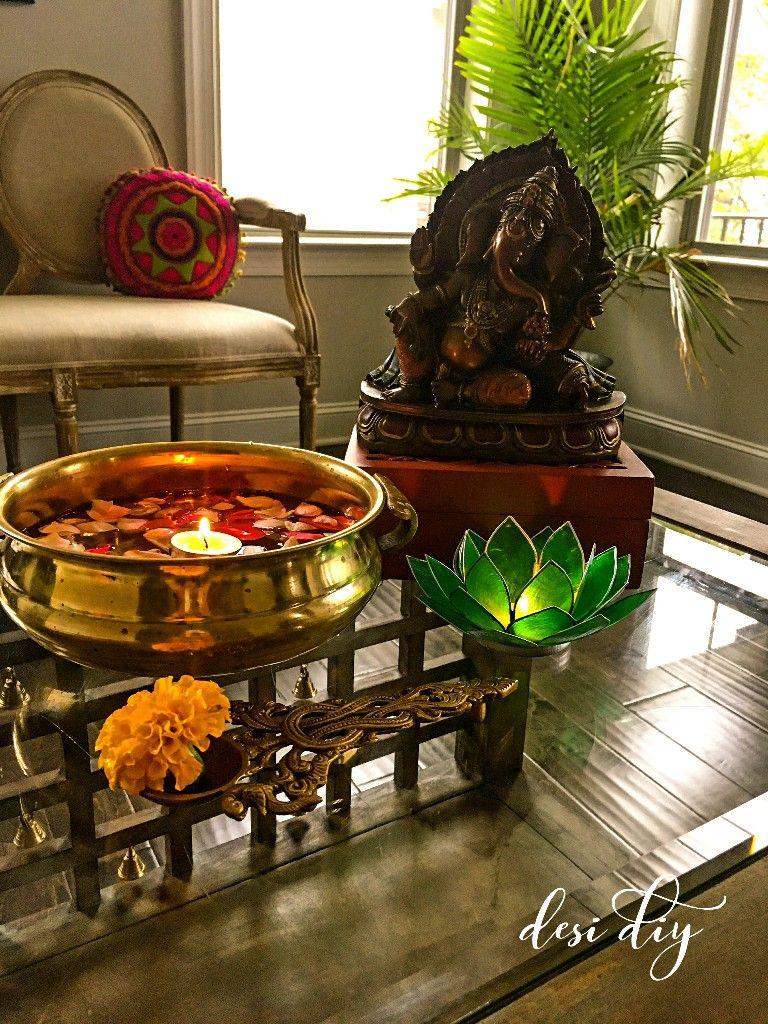 Br Home Decor Urli Capiz Candle Holder Ganesha Ethnic