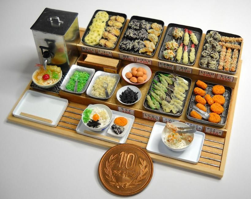 Mini tempura buffet