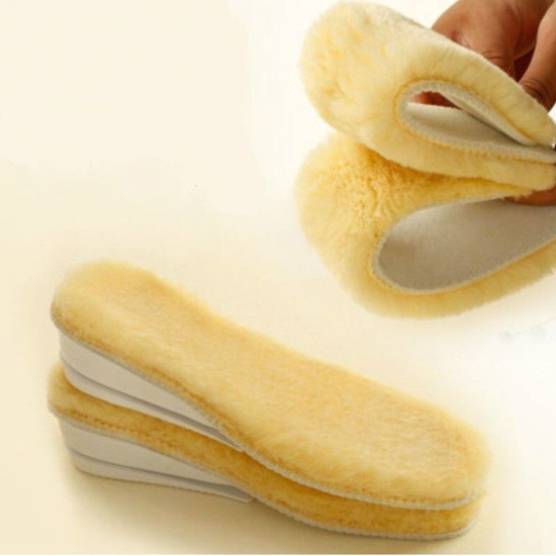 Men Wemen Winter Warm Thick Absorbent Sweat Imitation Wool Shoe Insoles Pads New