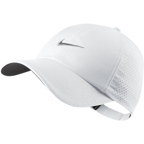 0115fc18 Nike Perforated Women's Golf Hat - WHITE, ONE SIZE ($22) ❤ liked on  Polyvore #GolfHat