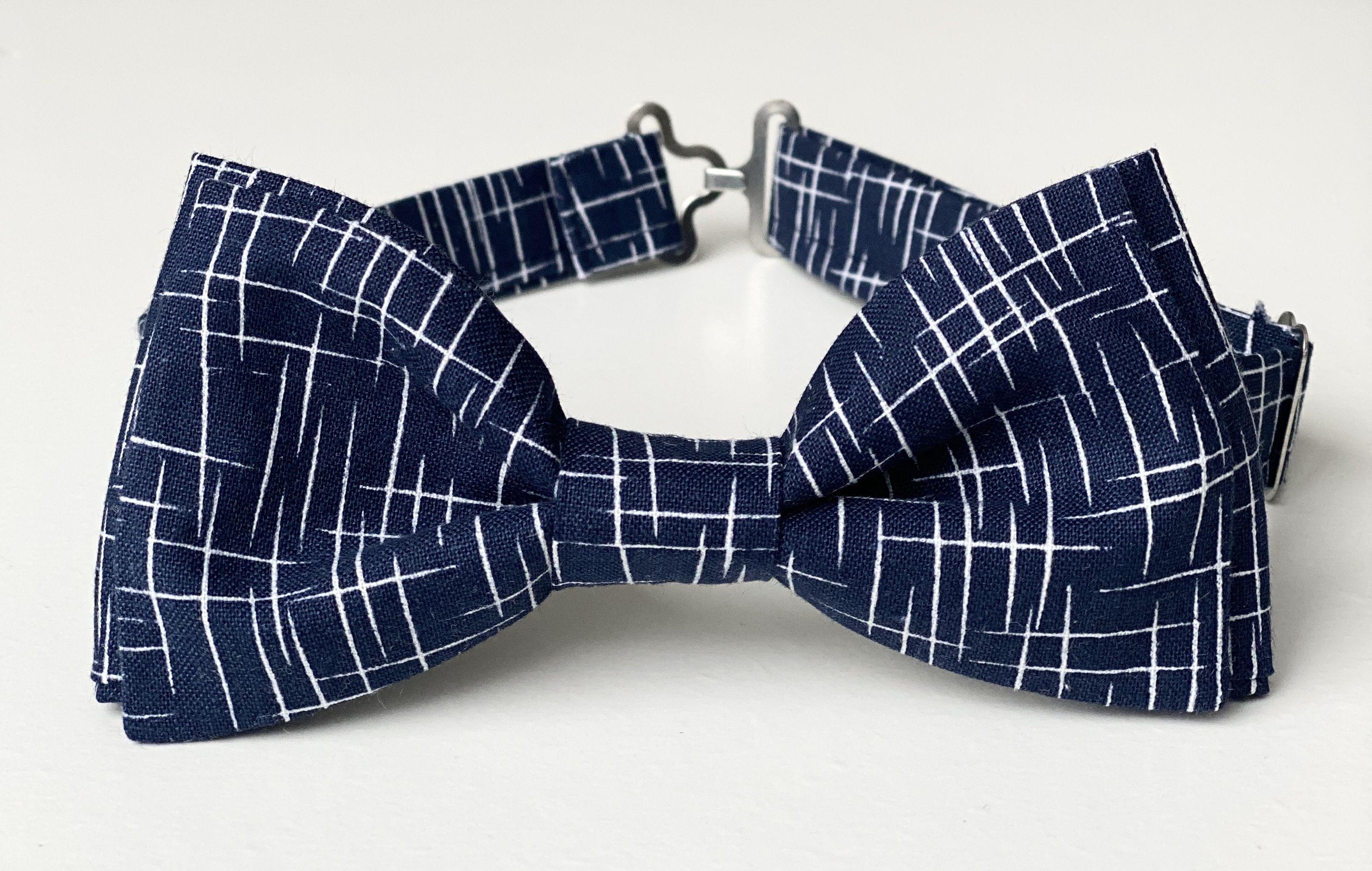 Kids Pre Tied Clip on Bow Tie-Navy