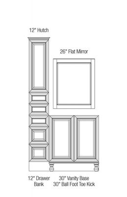 Bathroom Configuration Tool   Bathroom Layouts From 30 Inches To 150 Inches  | MasterBath Cabinets By RSI Home Products Inc.