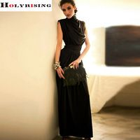 Maxi Dress mulheres Chiffong rey verão vestido Vintage vestido longo sem mangas Casual tornozelo de comprimento vestidos