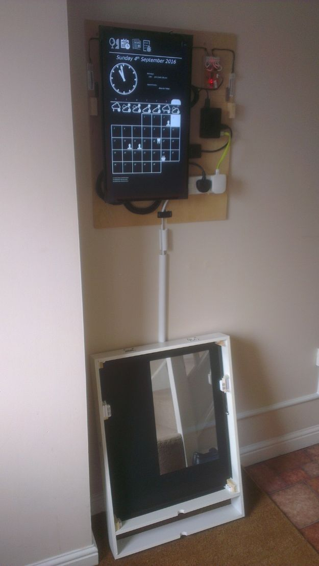 DIY Gadgets - Magic Mirror Hallway Dashboard - Homemade Gadget Ideas and Projects for…