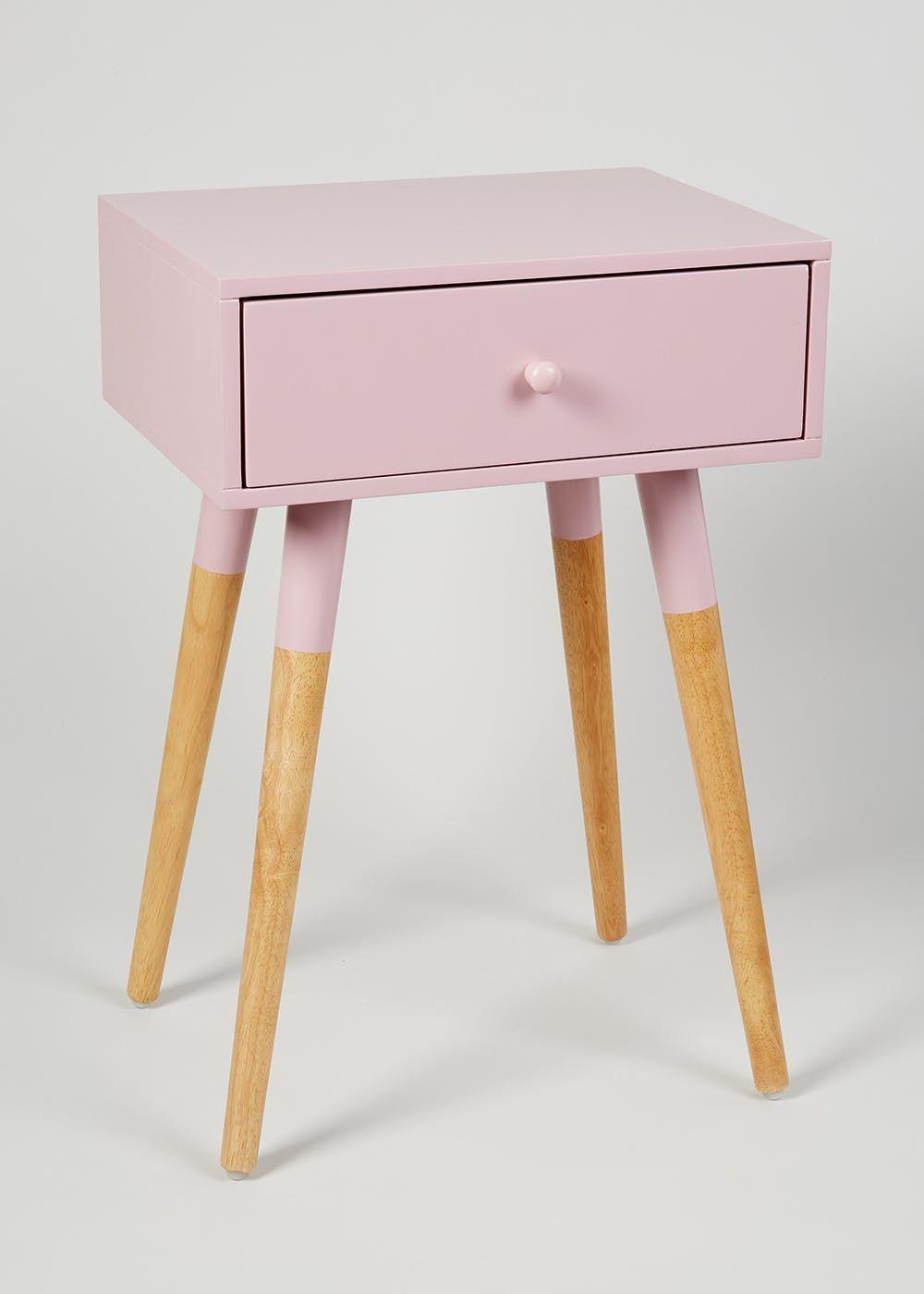 Pink Bedside Table: Lana Side Table (H60cm X W30cm X L40cm)