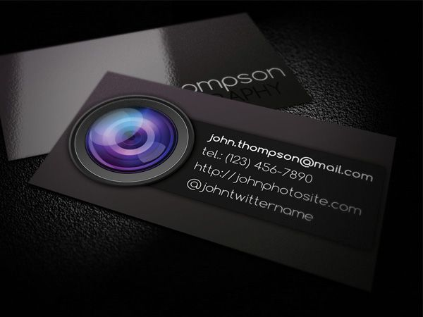 Photographer card 1 business card pinterest business cards photographer business card psd template all design template photoshop vector fbccfo Image collections