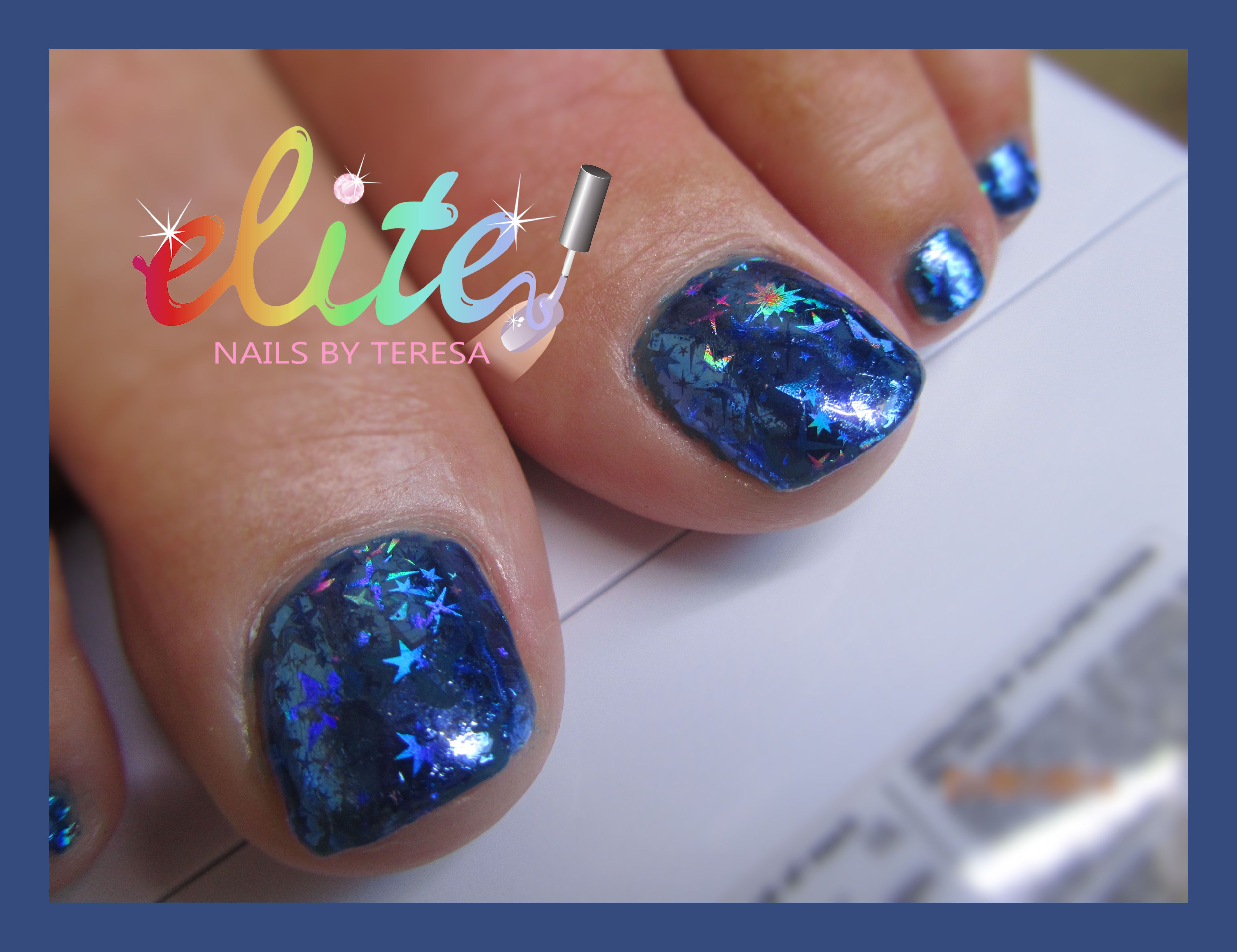 Blue foil cnd shellac toes stars gel polish nail art pedicure blue foil cnd shellac toes stars gel polish nail art pedicure nails prinsesfo Image collections