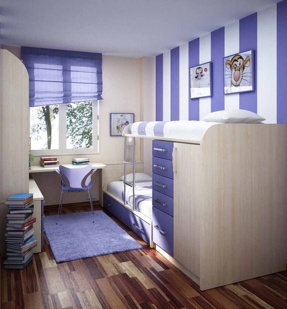 Purple Color Paint For Bedroom Cool Teen Bedroom Ideas With Purple Color Narrow Space Cara
