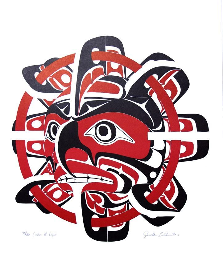 Circle Of Light Inuit Gallery Of Vancouver Ltd Native Art Haida Art Tribal Animal Tattoos