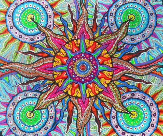 Breathing Sun (Mid) by Sunxmoon   Sun painting, Sun art, Celestial art