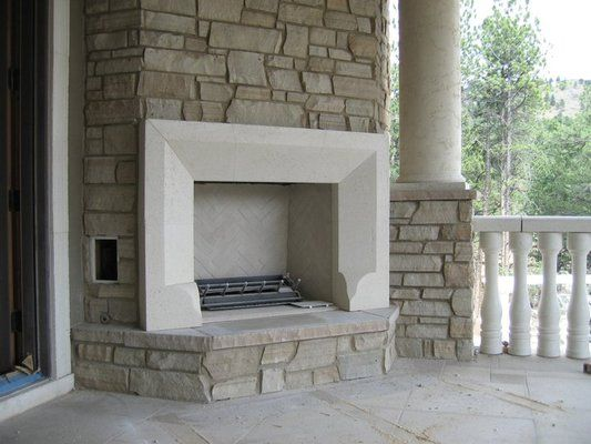 stone fireplace surrounds | Bistro cast stone fireplace surround ...