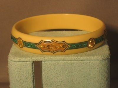 Bakelite Bracelet Fancy Design Rhinestones too (06/06/2011)