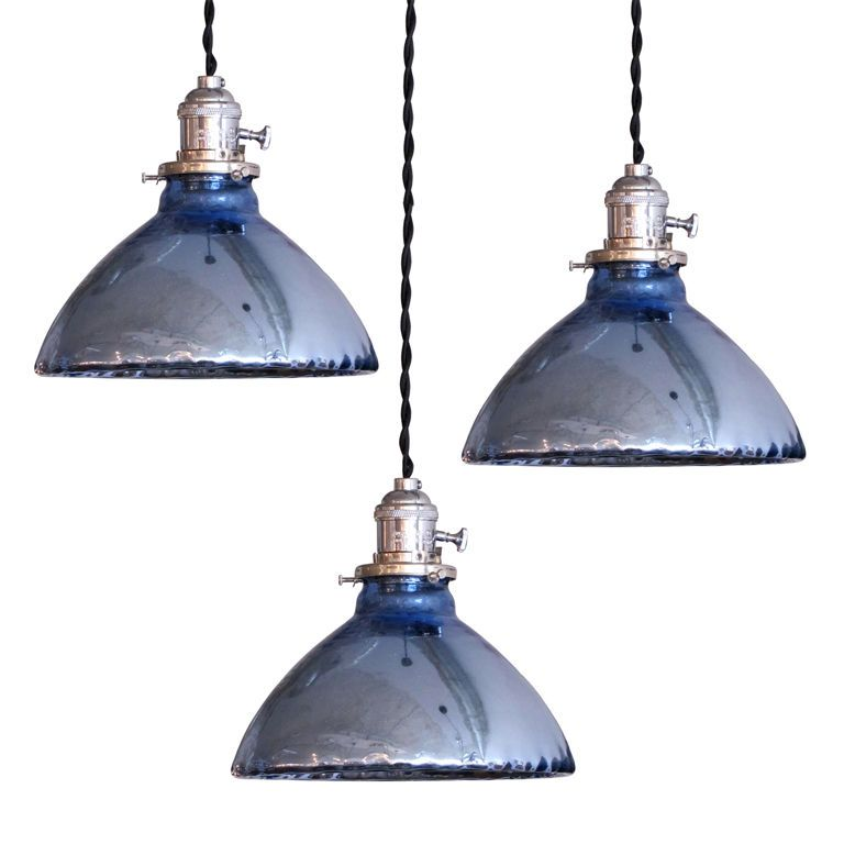 Blue Mercury Glass Pendant Lights | Pinterest | Mercury ...