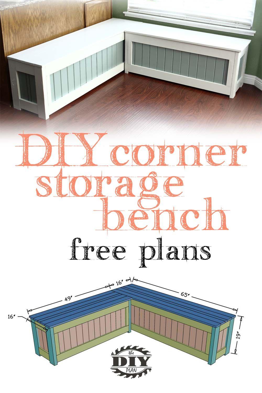 Corner Storage Bench Corner Bench With Storage Corner Storage Diy Storage Bench
