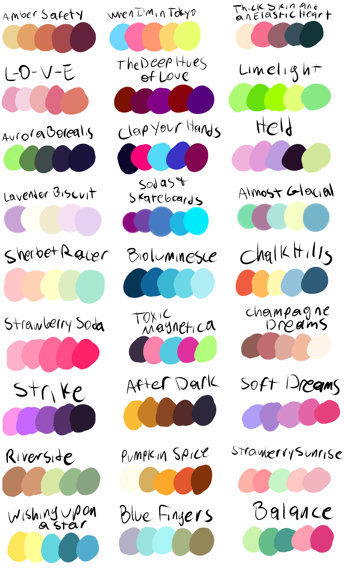Put A Character A Color Palette In My Ask Box And I Ll Draw It Now