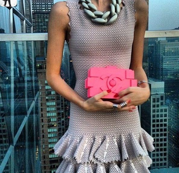 Chanel lego clutch.