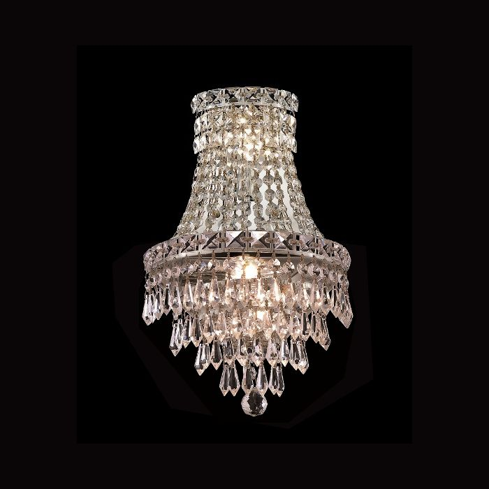Invisible Design 3 Light 17 Chrome Or Gold Wall Sconce With