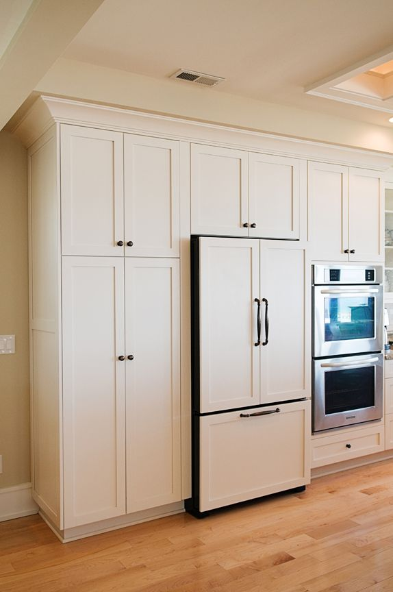 Bon Kitchenaid Panel Ready Refrigerator, Cozy Kitchens Group, OBX, NC.  Photography By ©Elizabeth Kiourtzidis