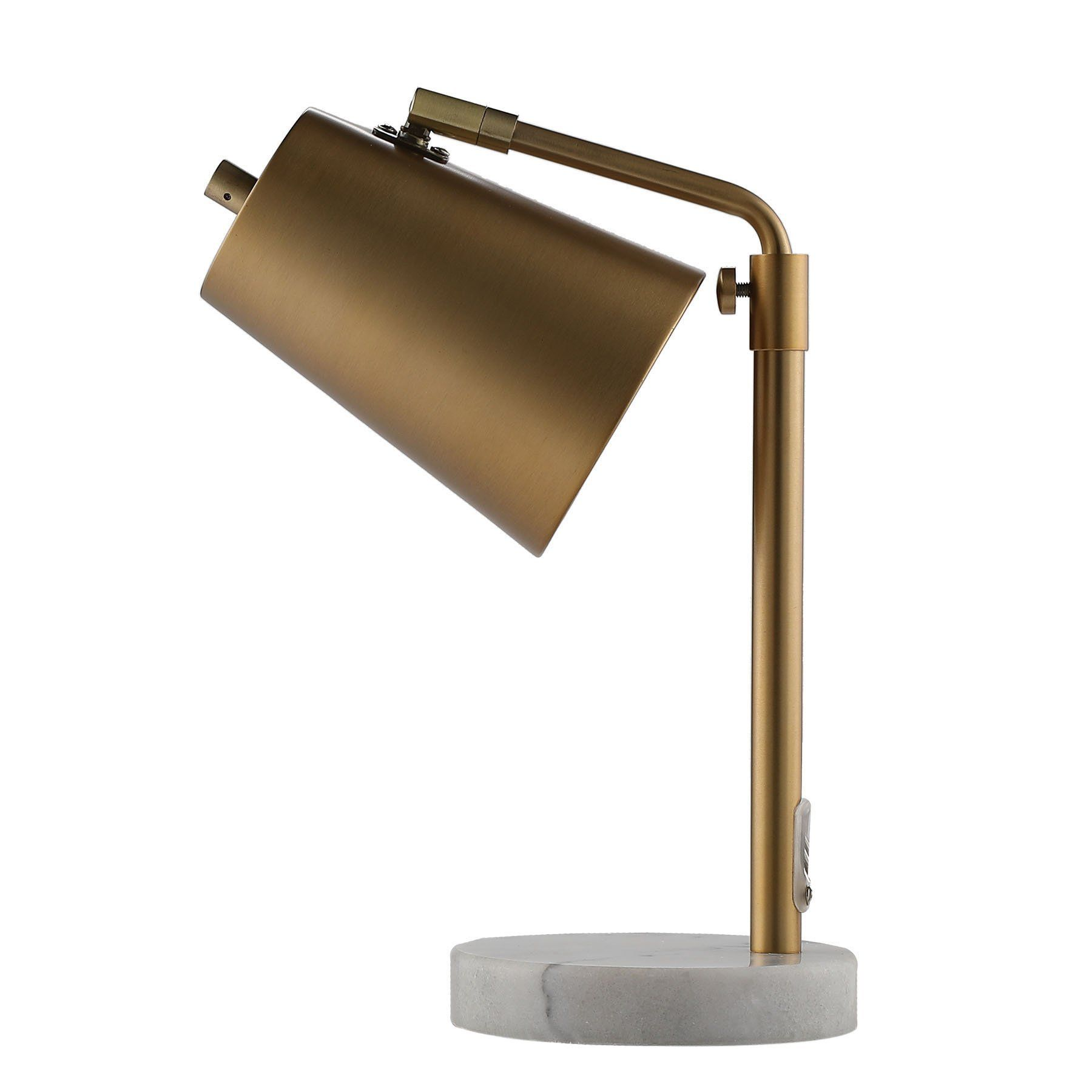 Coz Gold Desk Lamps With Marble Base Elegant Metal Shade Task