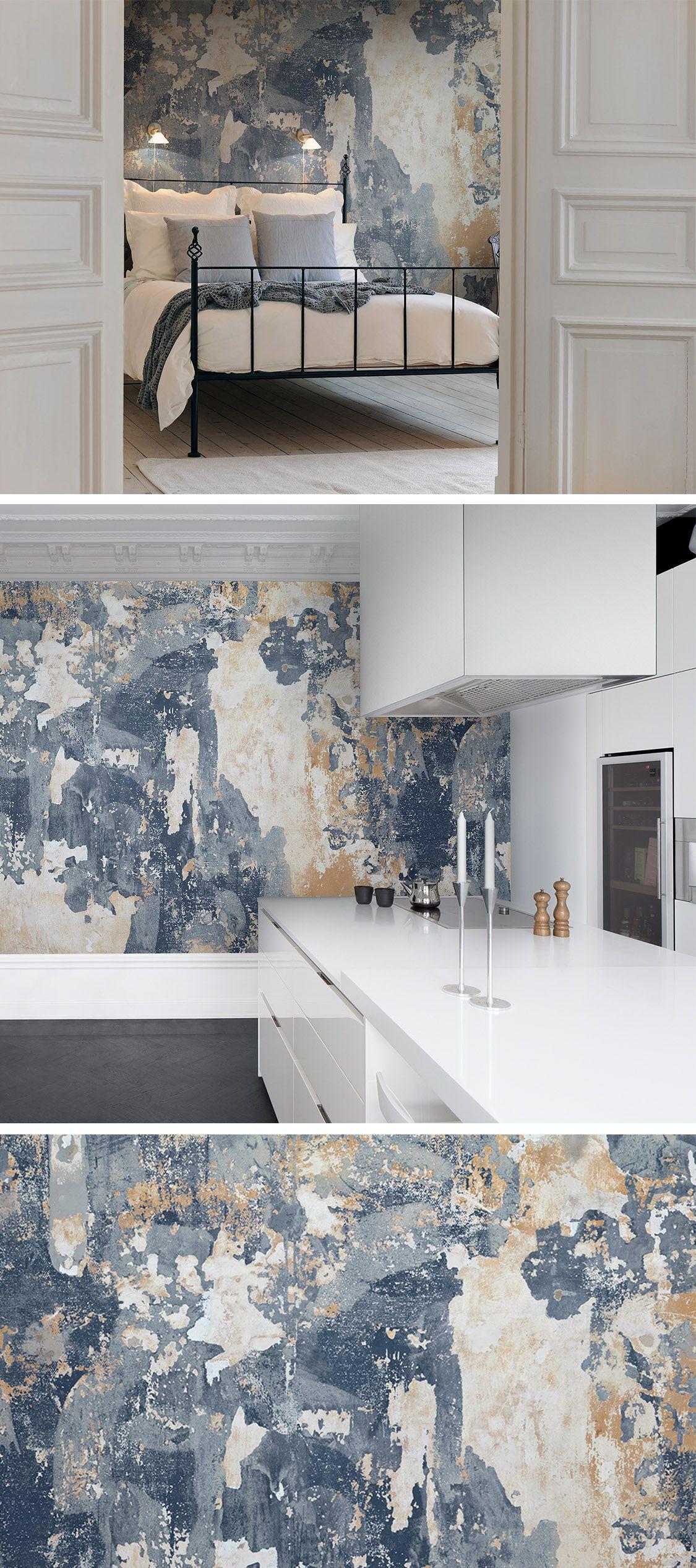 Battered Wall Wandgestaltung Tapete Moderne Tapeten Und Backstein Tapete