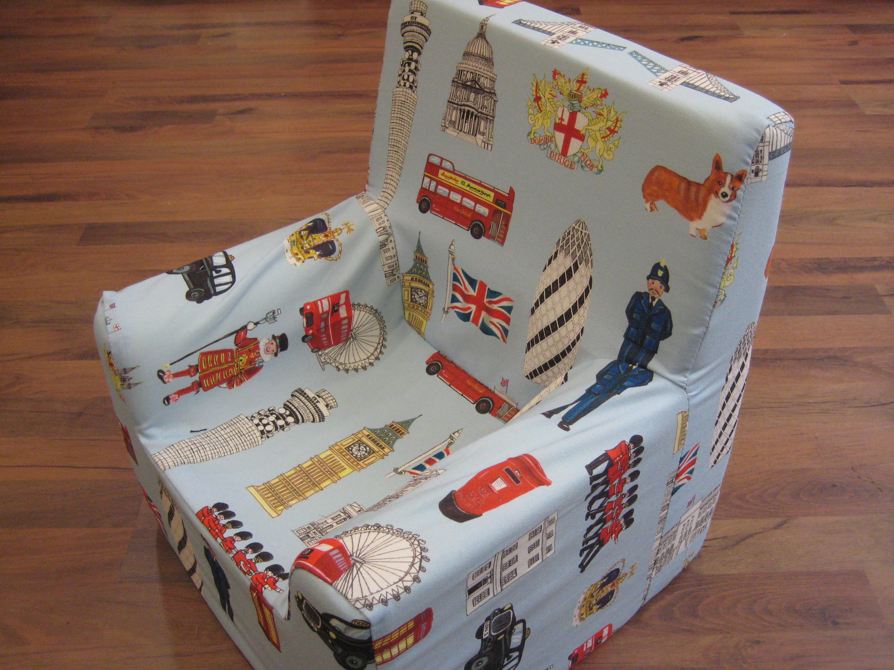 Loose Covered Foam Kids Chair   In Linwoodu0027s Washable Fabric.