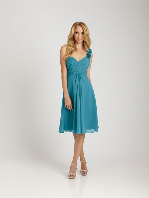 Gorgeous tea-length A-line bridesmaid dress $172.00