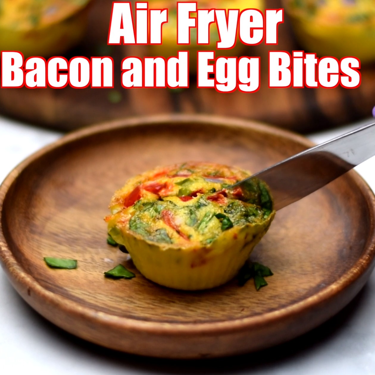 Air Fryer Bacon And Egg Bite Cups Is A Quick And Easy