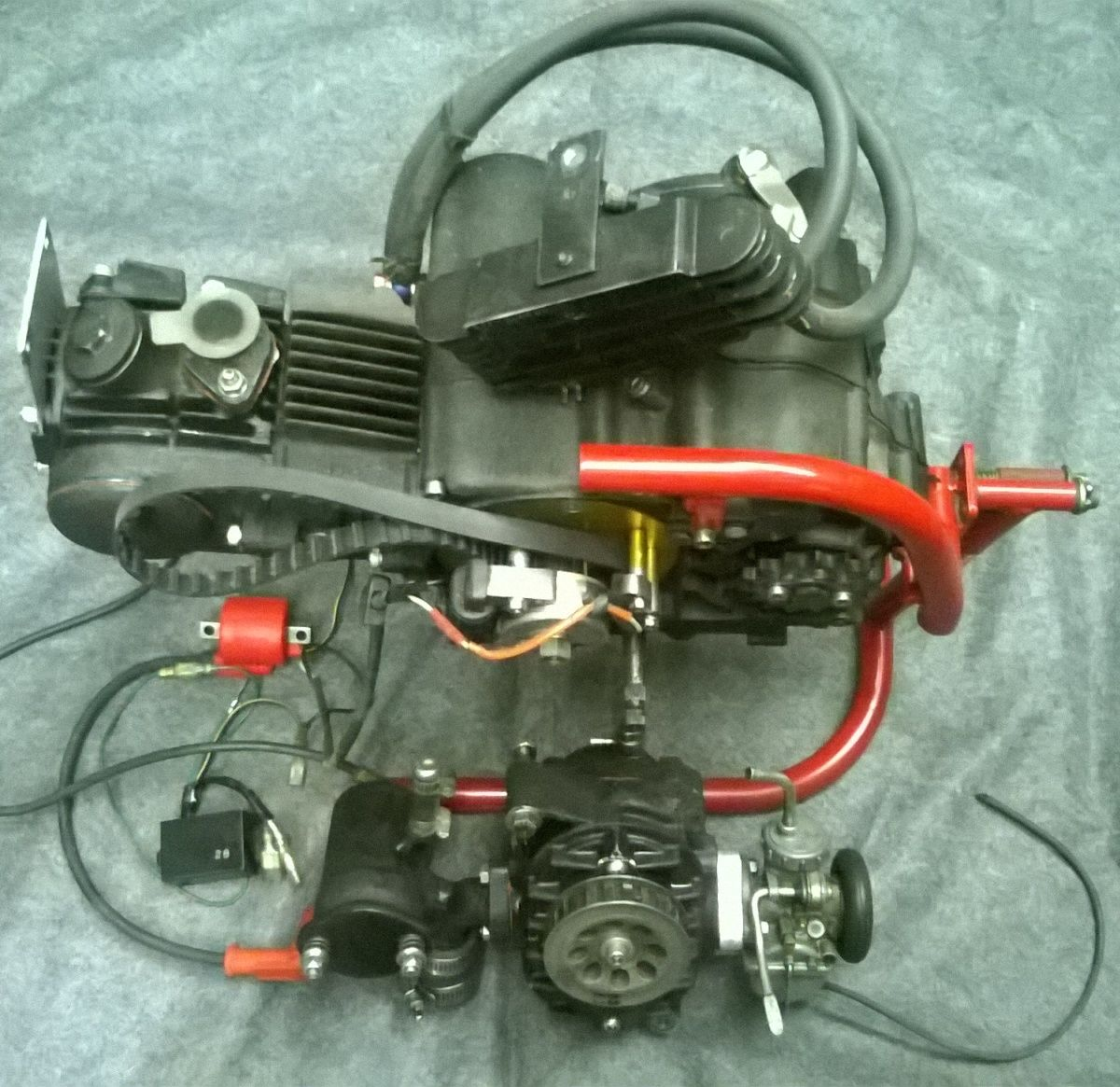 Supercharged engine - 50cc - 10hp - complete kit ready to run