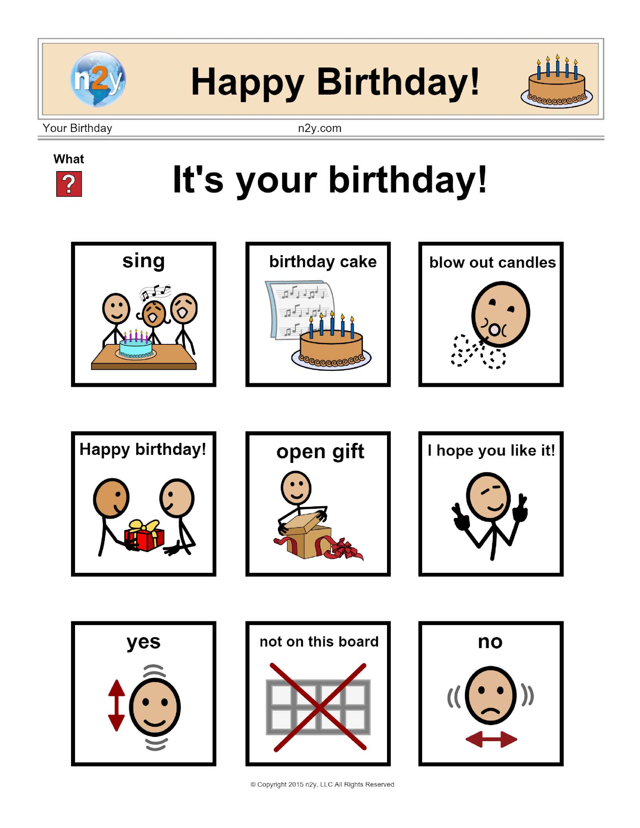 Happy birthday from n2y! Teach your students how to ...