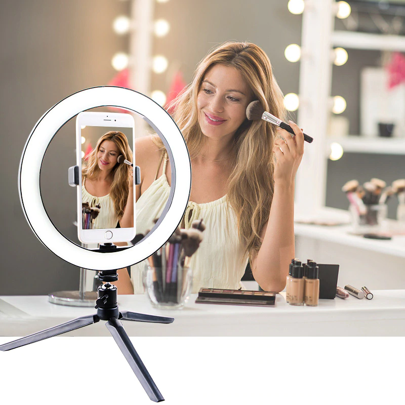 Photography Dimmable Led Selfie Ring Light Youtube Video Live 16 26cm Photo Studio Light With Table Tripod For All Smartphone Buy At The Price Of 13 28 In Al In 2020 Selfie