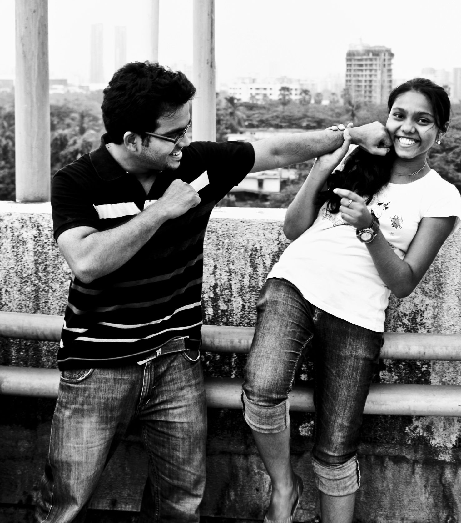 This is how to shoot a punch in style!!    Taken two years back, featuring my bro and one of the cousin. I reprocessed this to b