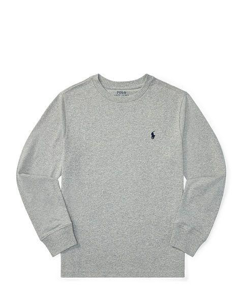 2546d8e9 Cotton Jersey Crewneck T-Shirt - Boys 8-20 Tees - RalphLauren.com ...