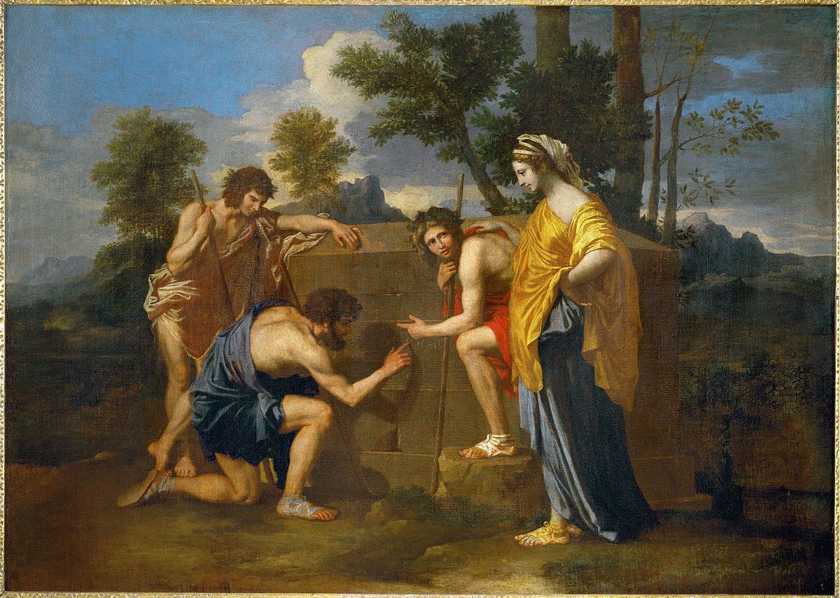 Quadro De Nicolas Poussin Et In Arcadia Ego Classicismo