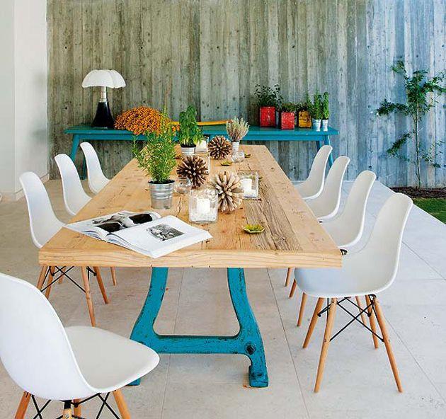schoolstoelen rond de eettafel - Google zoeken - Kelly | Pinterest ...