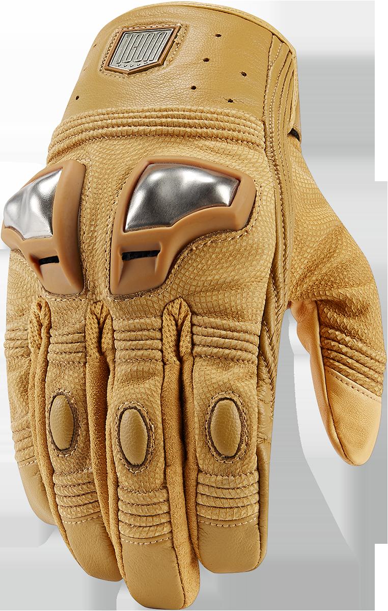 Icon 1000 Retrograde Glove Tan Products Ride Icon