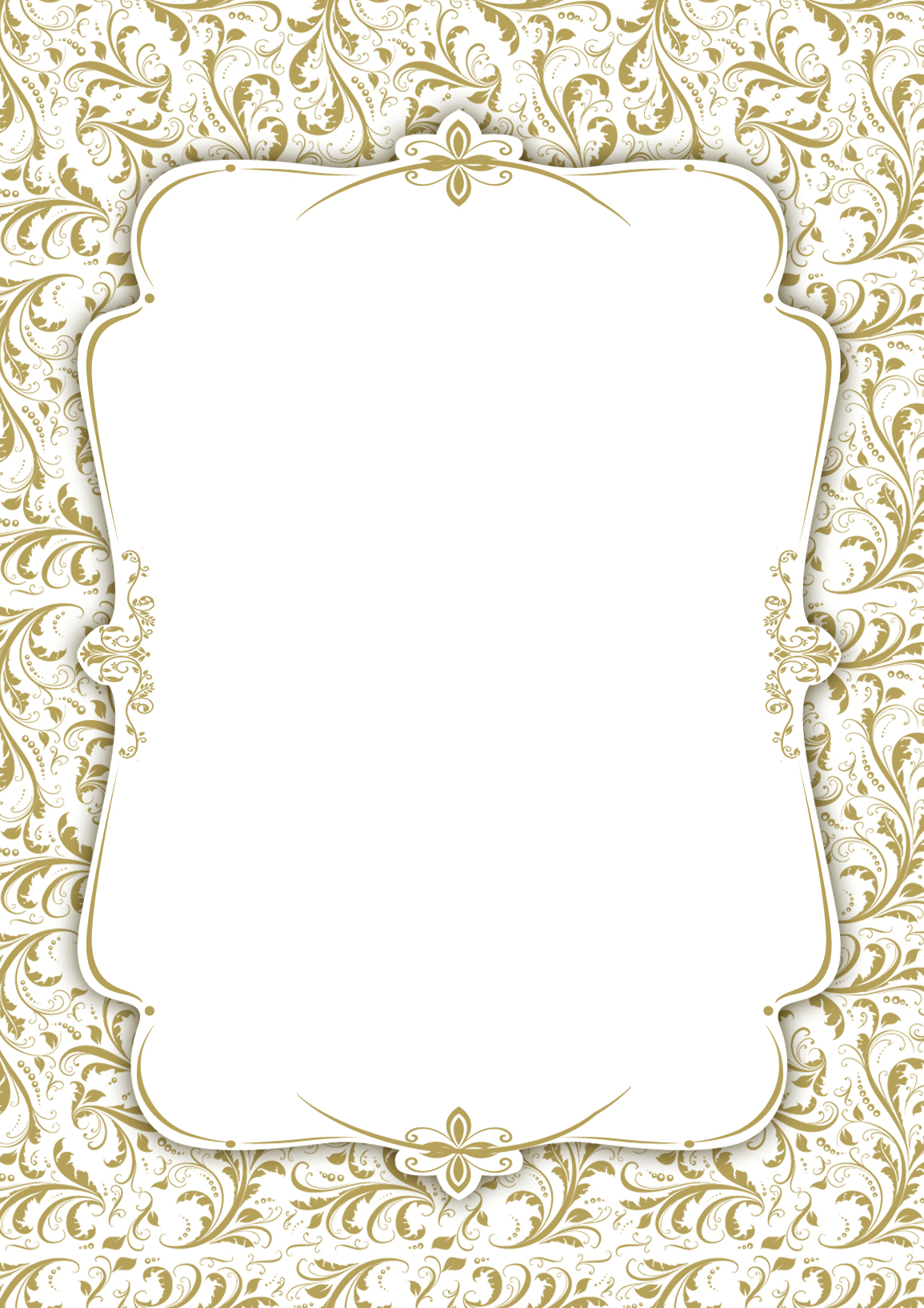 Gold Ornaments - Printable Party Invitation Template (Free