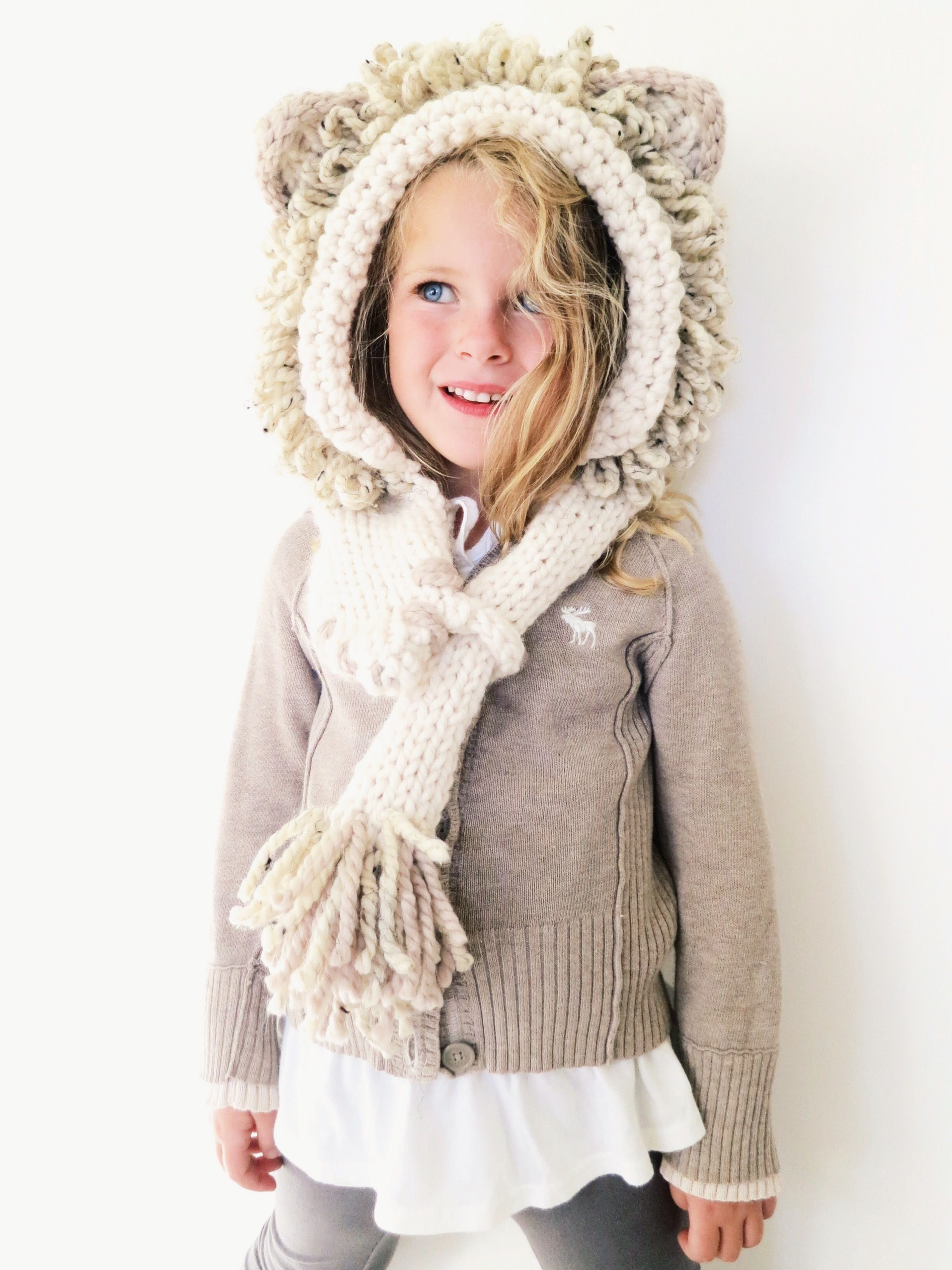 Leroy the Lion Hood Pattern // knitting pattern for lion-themed ...