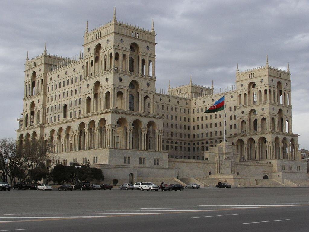 Government House Originally Soviet Palace Baku Lev Rudnev V O Munts 1936 52 Building Azerbaijan Baku
