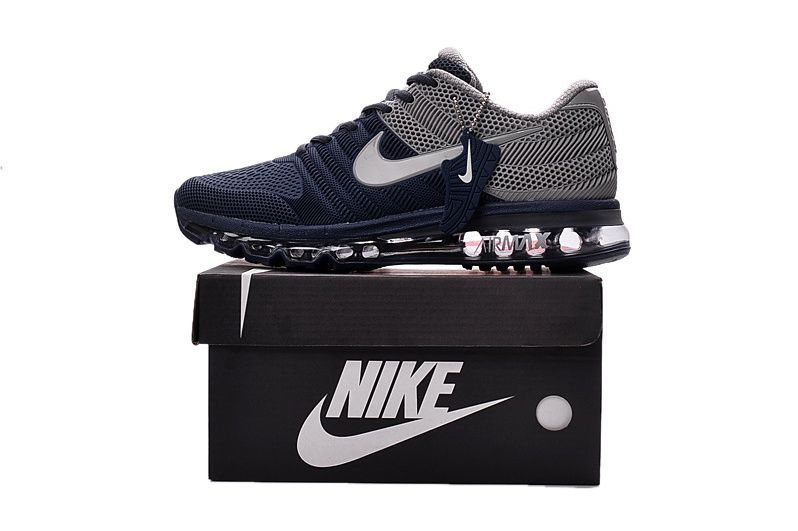 new style 9d530 cacae Nike Air Max Men 2017 Dark Blue Grey Shoes