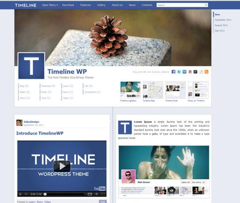 Free Facebook Timeline WordPress Theme http://socialmediarock.com ...