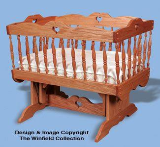 Glider Baby Cradle Woodworking Pattern Woodworking