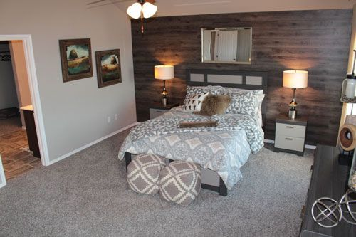 Vinyl wood plank accent wall this diy project cost less - Average cost to carpet a bedroom ...