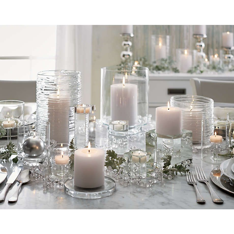 Elsa Glass Tealight Holders Crate And Barrel Candle Holders Wedding Centerpieces Glass Candle Plate Glass Tealight Candle Holders